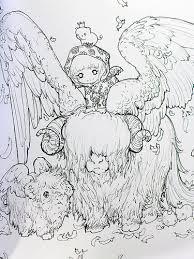 Pop Manga Coloring Book A Surreal Journey Through Cute Curious