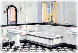 black white tile bathroom pictures