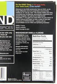 KIND Bar Madagascar Vanilla Almond Gluten Free Low Sugar 14oz 12 Count Amazon Grocery Gourmet Food
