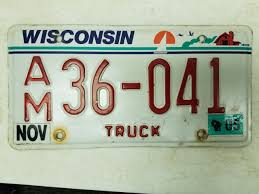 100 Truck License 2005 Wisconsin Plate 36041