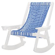 Pawleys Island Coastal DuraCord Patio Rope Rocking Chair - Coastal Blue -  White 0 All Seasons Equipment Heavy Duty Metal Rocking Chair W The Top Outdoor Patio Fniture Brands Cane Back Womans Hat Victorian Bedroom Remi Mexican Spalted Oak Taracea Leigh Country With Texas Longhorn Medallion Classic Porch Rocker Ladderback White Solid Wood Antique Rocking Chair Wood Rustic Pagadget Worlds Largest Cedar Star Of Black