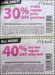 40 Off Coupon Michaels Crabplace Com Coupon Codes – Page 19 ... Michaels Art Store Coupons Printable Chase Coupon 125 Dollars 40 Percent Off Deals On Sams Club Membership 2019 Hobby Stores Fat Frozen Coupon 50 Off Regular Priced Item Southern Savers Black Friday Ads Sales Doorbusters And 2018 Entire Purchase Cluding Sale Items Free Any One At Check Your Team Shirts Code Bydm Ocuk Oldum Price Of Rollections