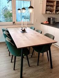 esstisch massivholz für 6 8 personen offene küche