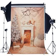 100 Tree Branch Bookshelves 5x7ft Christmas Fireplace Christmas Wood Blanket Photography Backdrop Studio Prop Background