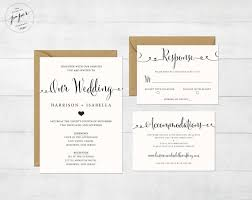 Wordings Wedding Invitations With Rsvp Cards Attached Uk