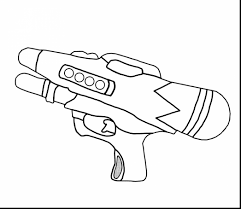 Excellent Water Gun Coloring Pages With 3d And For Adults