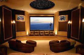 home theater wall sconces lighting room media decorating