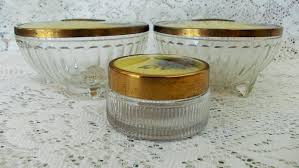 Celluloid Vanity Dresser Set by Clearance Price 1940s Dresser Vanity Jars Set Of 3 Yellow