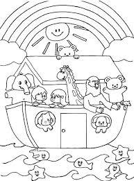 Noah Ark New Noahs Coloring Pages Printable