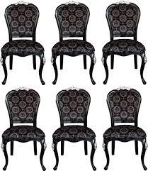 pompöös by casa padrino luxus barock esszimmerstühle mit krone schwarz silber pompööse barock stühle designed by harald glööckler 6