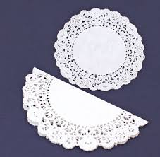 Easy Angel Crafts Doily Paper Step 1 Fold Larger In Half