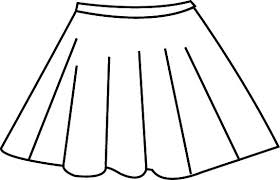skirt clipart black and white skirt coloring poodle skirt coloring