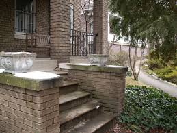 Delectable Design Front Porch Steps Ideas e With Red Bricks