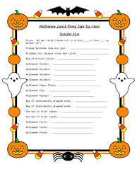 Halloween Potluck Invitation Template Free Printable by Halloween Potluck Signup Sheet Necm Magisk Co