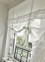 details zu raffrollo gardine rüschen weiß vintage shabby chic 90 110 130 150x100 cm