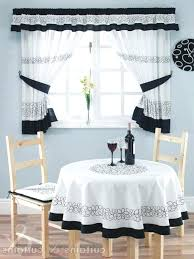 White Kitchen Curtains With Black Trim by White Kitchen Curtains With Black Trim Large Size Of And Cream