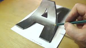How to Draw 3D Letter A Trick Art Drawing Anamorphic Illusion