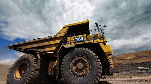 Dumper Truck Driving Around In Open Pit Mine. Stock Video Footage ...