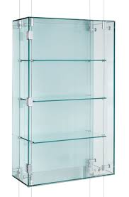 Suspended Glass Display Cabinet CMC002 With One Lockable Hinged Door This Style The Suspension Cables Pass Through And