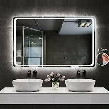 wandspiegel infrarot sensor beschlagfrei badspiegel led
