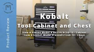 Kobalt Tool Cabinet With Radio by Kobalt Tool Cabinet And Chest Review Youtube
