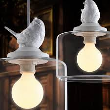 vintage bird industrial clear glass cover lshade pendant light