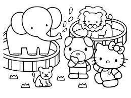 Coloring Pictures Of Hello Kitty And Her Friends Printable Valentine Pages Free