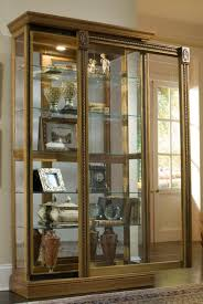 Pulaski Oak Corner Curio Cabinet by Clockway Pulaski Gemma 43in Wide Curio Cabinet Solid Wood Estate