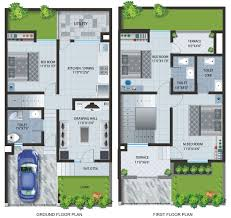 100 Townhouse Design Plans Cool House Er Plan 3 Indian Architecture Home