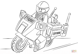 Click The Lego Moto Police Coloring