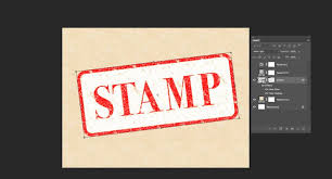 Add A Background And Skew The Stamp