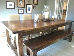 Diy Kitchen Table Bench Homemade Home Dining Cute Design With