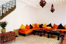 joli canapé salon canape angle orange