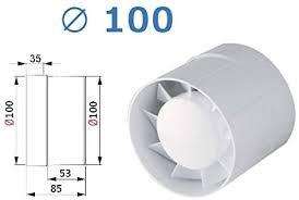 rohr einschub ventilator ø 100 125 150 mit kugellager lüfter badlüfter ipx4 kanallüfter wka l ø 100