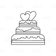 Wedding cake icon outline style royalty free wedding cake icon outline style stock vector