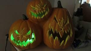 Halloween Blow Molds by Gemmy Blow Mold Pumpkin Trio With Blinking Lights Halloween Movie