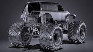 100 Gravedigger Monster Truck Grave Digger 3D Model In 3DExport