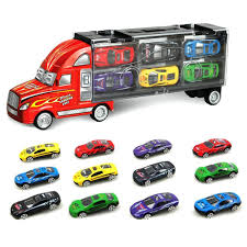 Big Toy Cars: Amazon.co.uk Prtex 60cm Detachable Carrier Truck Toy Car Transporter With Product Nr15213 143 Kenworth W900 Double Auto 79 Other Toys Melissa Doug Mickey Mouse Clubhouse Mega Racecar Aaa What Shop Costway Portable Container 8 Pcs Alloy Hot Mini Rc Race 124 Remote Control Semi Set Wooden Helicopters And Megatoybrand Dinosaurs Transport With Dinosaur Amazing Figt Kids 6 Cars Wvol For Boys Includes Cars Ar Transporters Toys Green Gtccrb1237