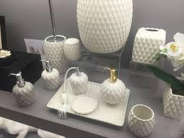 Bella Lux Mirror Rhinestone Bathroom Accessories by White Bathroom Accessories Ceramic Interior Design