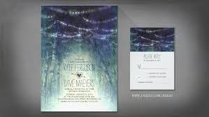 Enchanted Rustic Woodland Wedding Invitations