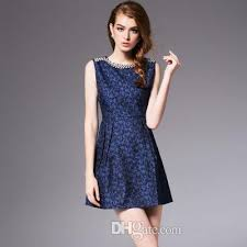 2018 New Spring WomenS Vintage One Piece DressSleeveless Whole