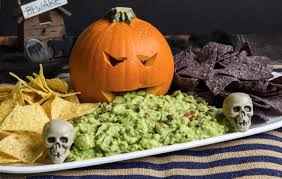 Picture Of Pumpkin Throwing Up Guacamole by Sustainable Halloween Ideas A State Of Ruin Blog