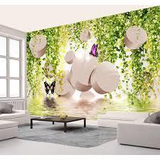 großhandel gewohnheit irgendeine größe tapete 3d rebe schmetterling romantische 3d wohnzimmer schlafzimmer hintergrund wanddekoration wallpaper