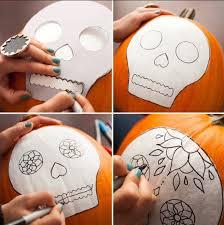 Sugar Skull Pumpkin Carving Patterns by Best 25 Sugar Skull Pumpkin Ideas On Pinterest Skull Pumpkin