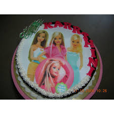 Barbie Photo Cake Sendflowersindia