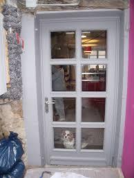porte de cuisine porte vitrée cuisine côté extérieur elody12