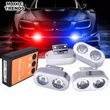 100 Emergency Strobe Lights For Trucks 4Pcs 2 LED For Cars Warning Hazard