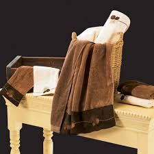 Images Of 6 Pc Embroidered Rustic Wildlife Bath Towel Set Brown Towels
