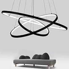 moderne pendelleuchten für wohnzimmer esszimmer 3 2 kreis ringe acryl aluminium gehäuse led pendelleuchte leuchten wohnraumbeleuchtung weiß 3 ringe