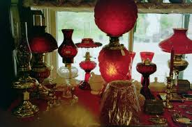 Antique Floor Lamp Glass Shades by Miscellaneous Lamps